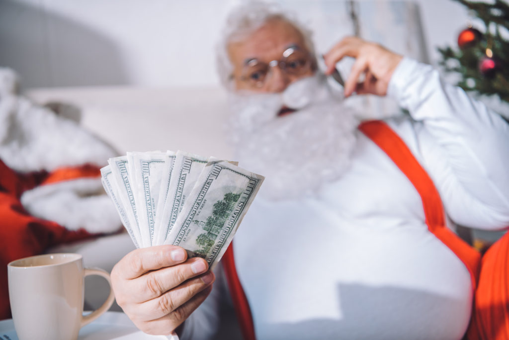 santa and cash | Cedar Post Pawn Hurricane